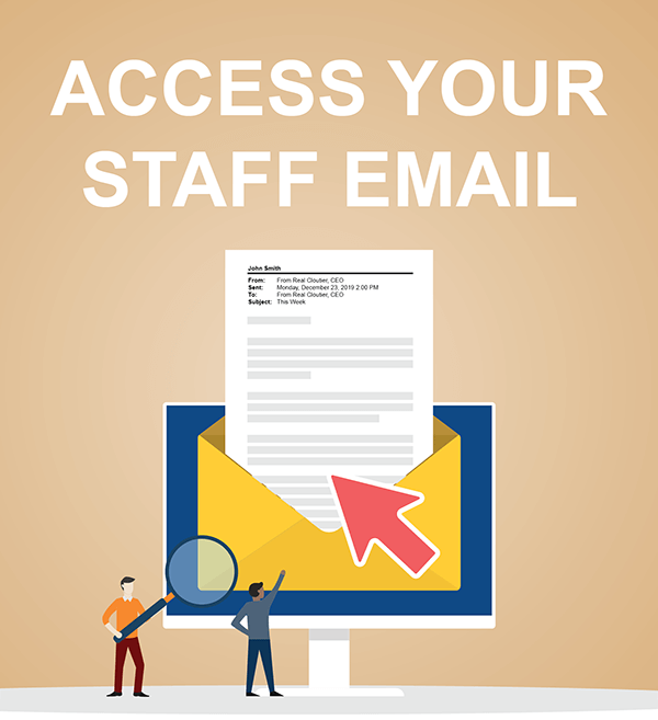 Access Your Staff Email Graphic
